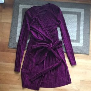 Topshop velvet wrap party dress size 6
